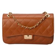 Marlafiji - Bianca Quilted Leather Handbag Cognac