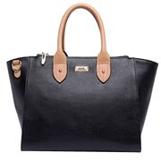 Serenade Leather - Tessa Grip Handle Large Leather Bag