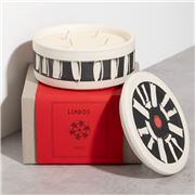 WAKS - Lindos Candle Amber Scent Large White