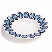ThemisZ - The Kyklos Blue On White Soup Plate 24cm