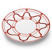 ThemisZ - The Serenity Burgundy On White Dinner Plate 31cm