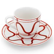 ThemisZ - The Serenity Coffee/Tea Cup and Saucer Burgundy