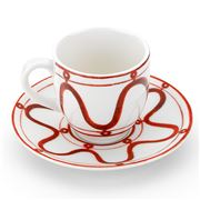 ThemisZ - The Serenity Espresso Cup and Saucer Burgundy