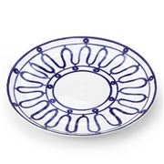 ThemisZ - The Kyma Blue On White Dinner Plate 31cm