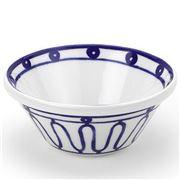 ThemisZ - The Kyma  Spiral Blue On White Bowl 16cm