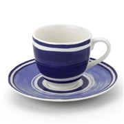 ThemisZ - The Maze Coffee/Tea Cup & Saucer Blue