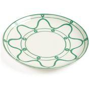 ThemisZ - The Serenity Green On White Dessert Plate 24cm