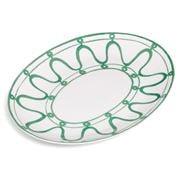ThemisZ - The Serenity Green On White Serving Platter 36cm
