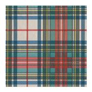 Caspari - Cocktail Napkins Dress Stewart Tartan 20pce