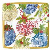Caspari - Porcelain Ornaments Salad & Dessert Plate 8pce