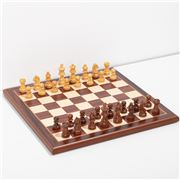 Italfama - Chess Set With Wooden Chessboard & Pieces 32cm
