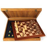 Manopoulos - Chess Set w/ Stauton Chessmen Mahogany 50cm