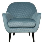 Cafe Lighting - Joy Joy Quilted Occasional Chair Duck Egg