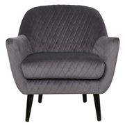 Cafe Lighting - Joy Joy Quilted Occasional Chair Charcoal