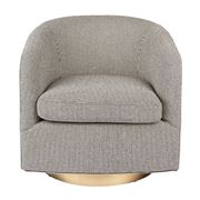 Cafe Lighting - Belvedere Swivel Occasional Chair Black