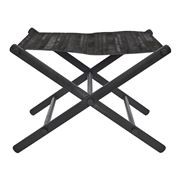 Cafe Lighting - Directors Stool Black Leather