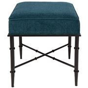 Cafe Lighting - Hacienda Stool Teal Chenille