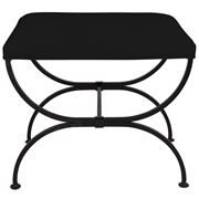 Cafe Lighting - Novak Black Iron Stool Black Linen