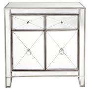 Cafe Lighting - Apolo Mirrored Cabinet Antique Silver