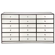 Cafe Lighting - Brentwood 12 Drawer Mirrored Chest