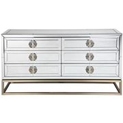 Cafe Lighting - Rochester 6 Drawer Mirrored Chest