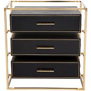 Cafe Lighting - Vogue Bedside Table Large Gold