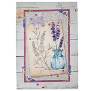 L'Ensoleillade - Tea Towel Riez Lavender In Vase 3 Sprigs