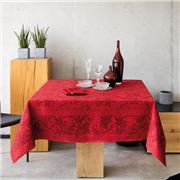 Beauville - Tablecloth Topkapi SAtin Red 170x170cm