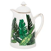 Luxe By Peter's - Porcelain Carafe Palms