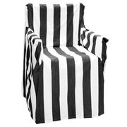 Rans - Alfresco Director's Chair Cover Stripe Black