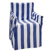 Rans - Alfresco Director's Chair Cover Stripe Cobalt Blue