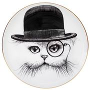 Rory Dobner - Cat In Hat Plate Medium 21cm
