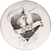 Rory Dobner - Loved Up Lovebirds Heart Plate Medium 21cm