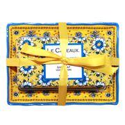 Le Cadeaux - Sicilian Lemon Soap Dish & Bar Soap Gift Set