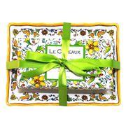 Le Cadeaux - Zest Of Lime Soap Dish & Bar Soap Gift Set