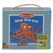 Melissa & Doug - Natural Play Book & Puzzle Deep Blue Sea