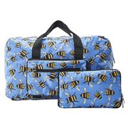 Eco-Chic - Lightweight Foldable Bag Bee's Holdall Blue