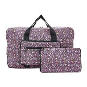 Eco-Chic - Lightweight Foldable Bag Ditsy Holdall Purple