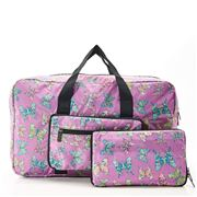 Eco-Chic - Lightweight Foldable Bag Butterfly Holdall Lilac
