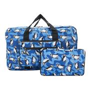 Eco-Chic - Lightweight Foldable Bag Puffin Holdall Blue