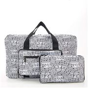 Eco-Chic - Lightweight Foldable Bag Music Holdall White