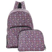 Eco-Chic - Foldable Backpack Ditsy Doodle Purple
