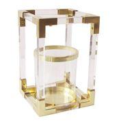 Luxe By Peter's - Lantern Acrylic Ant Gold Claridge's 24x36