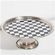 Luxe By Peter's - Chess Nickel Plate Footed Cake Stand 21cm