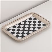 Luxe By Peter's - Nickel Plated Chess Themed Tray 14.5x21cm