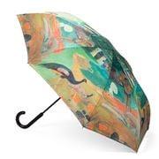 Galleria - Reverse Close Umbrella Gaugin L/Scape w/Peacocks