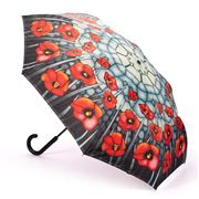 Galleria - Reverse Close Umbrella Stained Glass Poppies