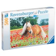 Ravensburger - Horse In The Poppy Field Puzzle 500pce