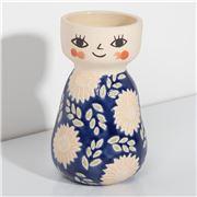 Jones & Co - Miss Cozette Vase Floral Blue