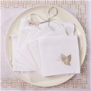 Serenk - Butterflies Cocktail Napkin Silver & Gold Set 6pc